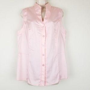 Antonio Melani Blouse Button Up Sleeveless Sz L